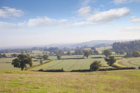warwickshire: View over Warwickshire countryside, England