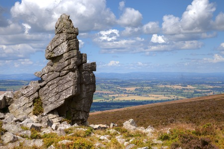 british isles: Rocky outcrop at Stiperstones, Shropshire, England