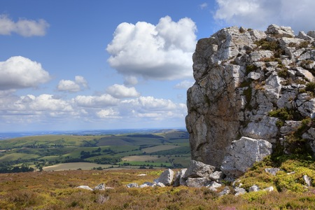 british isles: rocky outcrop at Stiperstones, Shropshire, England.
