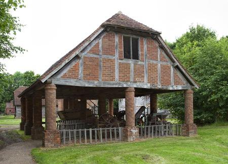 worcestershire: Brick-built granary, Worcestershire, England. Stock Photo