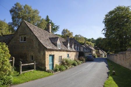 Cotswold village of Snowshill, Gloucestershire, England.
