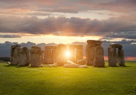 Stonehenge, Wiltshire, Engeland.