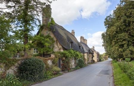 Chaumes, Cotswold cottages près de Broadway, Worcestershire, Angleterre.