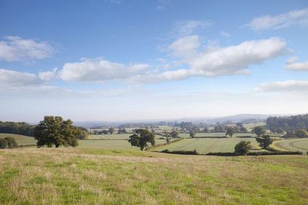 warwickshire: View over Ragley Estate, Warwickshire, England.