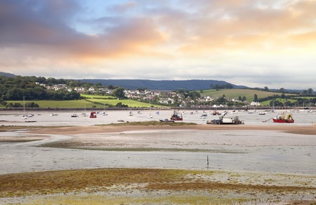 warren: View over the Ex Estuary from Dawlish Warren, Devon, England. Stock Photo