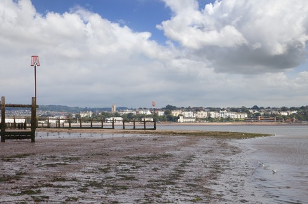warren: Exmouth from Dawlish Warren, Devon, England. Stock Photo