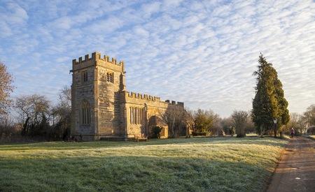 welford on avon: Church at Weston on Avon, Warwickshire, England Stock Photo