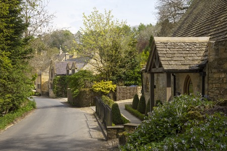 gloucestershire: Cotswold cottages, Snowshill, Gloucestershire, england