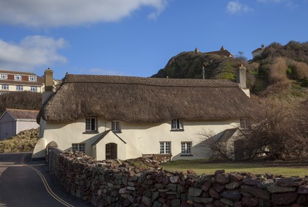 thatched cottage: Thatched cottage at Hope Cove, Devon, England