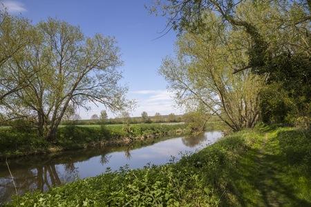 River Avon at Welford on Avon, Warwickshire, England