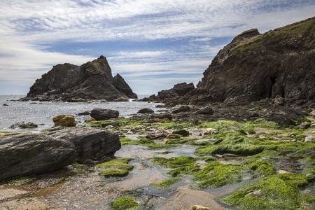 devon: Soar Mill Cove, Devon, England Stock Photo