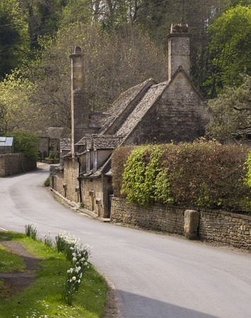 cotswold: Cotswold cottages at Snowshill, Gloucestershire, England Stock Photo