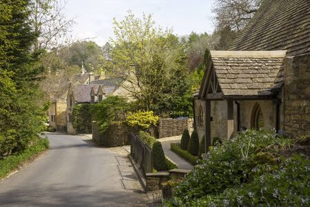 gloucestershire: Cotswold cottages at Snowshill, Gloucestershire, England Stock Photo