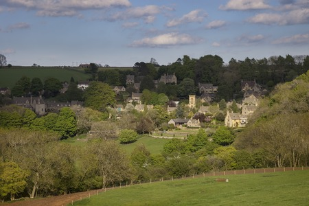 gloucestershire: Cotswold village of Snowshill, Gloucestershire, England Stock Photo