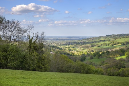 british isles: Rural Cotswolds near the village of Snowshill, Gloucestershire, England