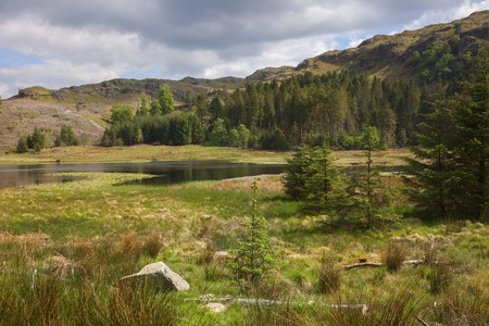cumbria: Harrop Tarn, Lake District, Cumbria, England Stock Photo