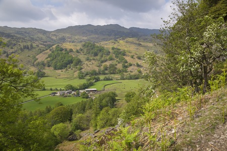 lake district: View from Helm Crag, The Lake District, Cumbria, England Stock Photo