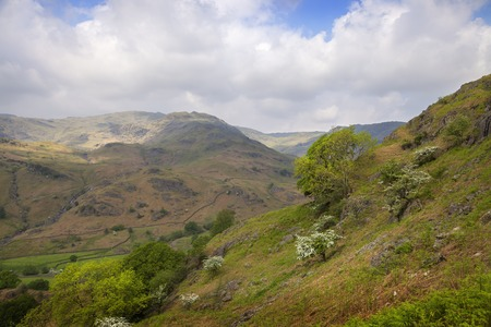cumbria: View from Helm Crag, The Lake District, Cumbria, England Stock Photo
