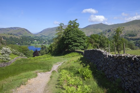 cumbria: View towards Grasmere, The Lake District, Cumbria, England