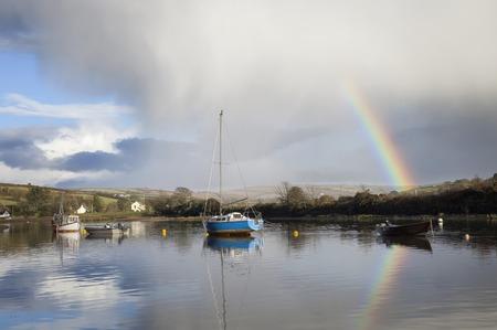 sailing boats: Sailing boats on the River Avon at Averton Gifford Stock Photo