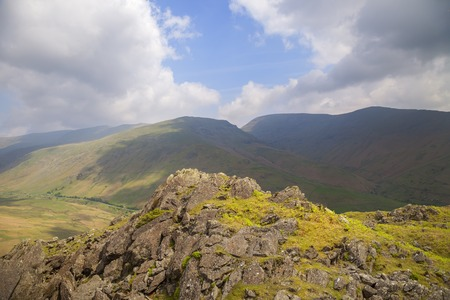 View from Helm Crag, The Lake District, Cumbria, England Stock Photo