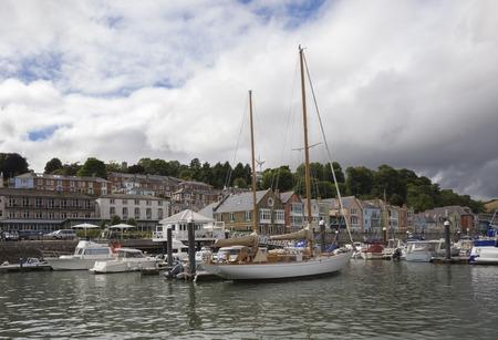 devon: Yachts at Dartmouth, Devon, England Stock Photo