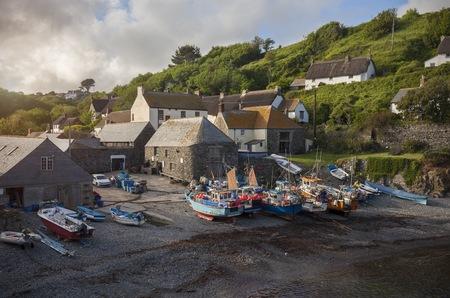 Fishing boats at Cadgwith Cove, Cornwall, England