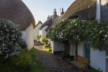 Thatched cottages at Inner Hope, Hope Cove, Devon, England