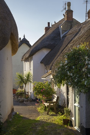 Thatched huisjes in Inner Hope, Hope Cove, Devon, Engeland