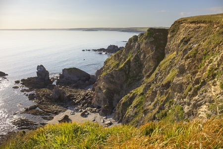 View towards Thurlestone Bay from Hope Cove, Devon, England