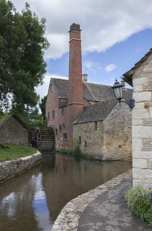 The Mill at Lower Slaughter, Cotswolds, Gloucestershire, Engeland.