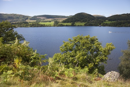cumbria: Ullswater from Hallin Fell, the Lake District, Cumbria, England.