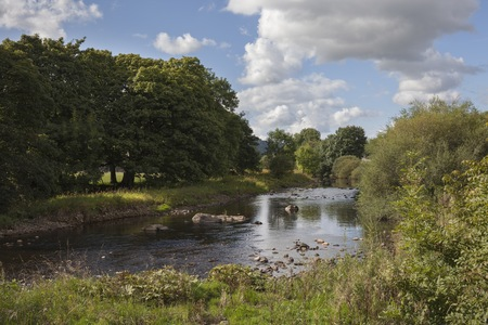 River Wharfe, Wharfedale, Yorkshire Dales National Park, Engeland. Stockfoto