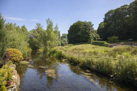 River Leach at Eastleach, Cotswolds, Gloucestershire, England