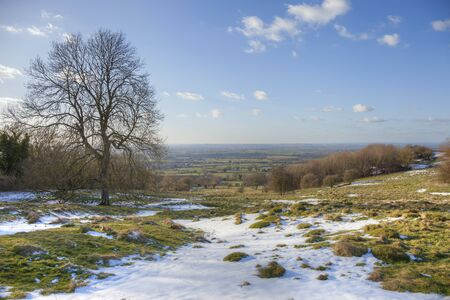Overlooking Willersey near Broadway, Cotswolds, Gloucestershire, England