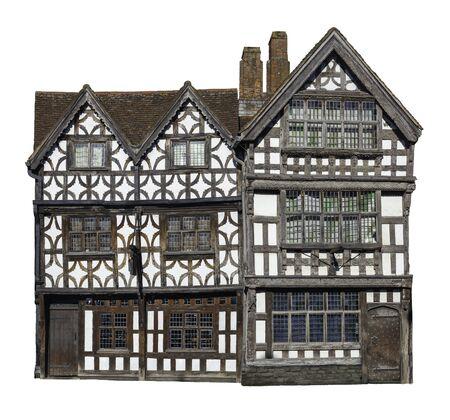 Cut-out Tudor period building, England Stockfoto