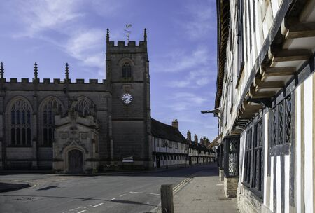 Church and Almshouses, Stratford upon Avon, Warwickshire, England