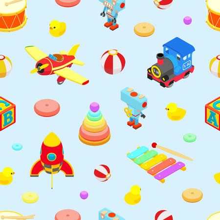 Seamless Toy Pattern Vector