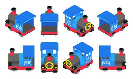 Isometric Blue Train