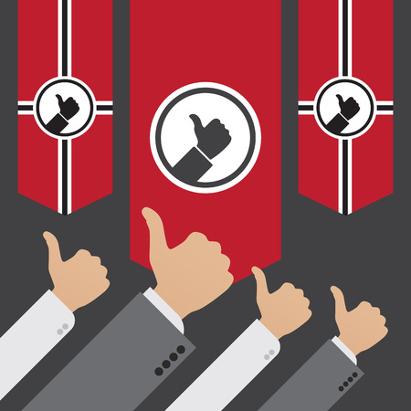 dictator: Dictatorship of the Like. Conceptual illustration suitable for advertising and promotion Illustration