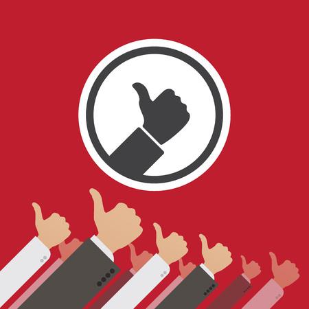 dictature: Dictature du Like. Illustration conceptuelle appropri�e pour la publicit� et la promotion Illustration