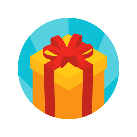 Isometric gift box icon. Illustration suitable for advertising and promotion Vector
