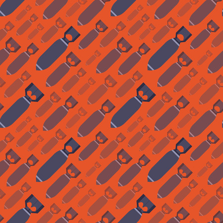 detonation: H-Bobms seamless pattern against the red background. The layout is fully editable Illustration