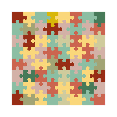 Assembled jigsaw puzzle. Illustration suitable for advertising and promotion