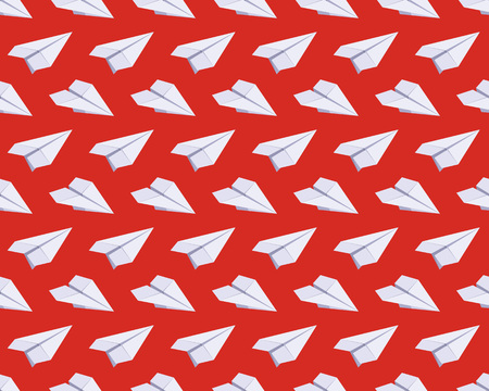 Seamless Pattern With Isometric Paper Planes Against The Red.. Royalty Free  Cliparts, Vectors, And Stock Illustration. Image 40692320.