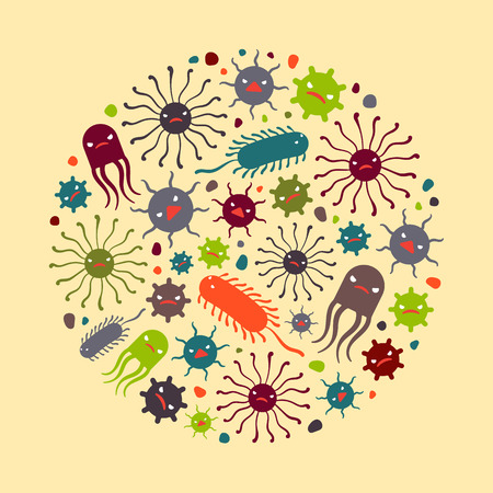 Viruses. Illustration suitable for advertising and promotion