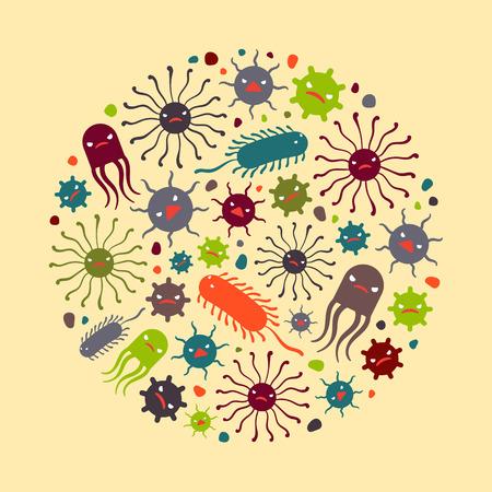 Viren. Illustration geeignet für Werbung und Verkaufsförderung Illustration