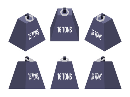 ton: Set of the isometric weights. The objects are isolated against the white background and shown from different sides