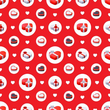 fully editable: Valentines Day Seamless Pattern. The layout is fully editable Illustration
