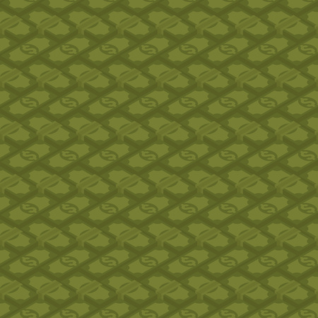 fully editable: Seamless money pattern against the green background. The layout is fully editable